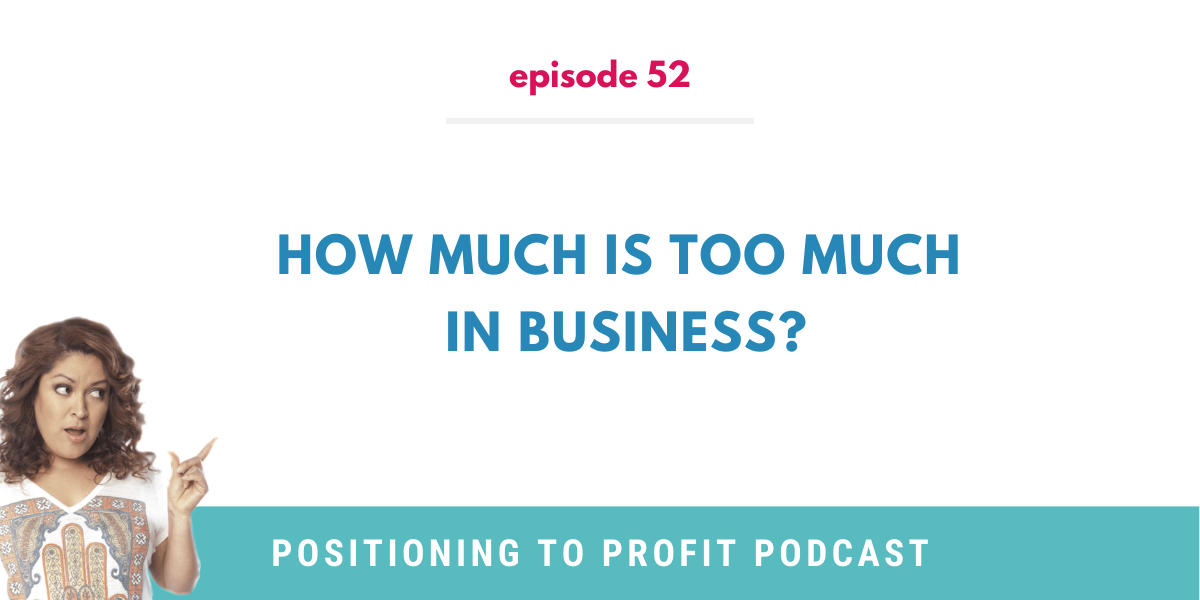 Postioning to Profit Podcast Episode 52 Card